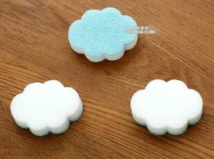 出口日本云朵刷锅百洁布+擦擦克林洗茶杯海绵双面两用擦块-3片装,