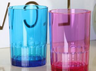 包邮套装 波浪情侣水杯一对漱口杯 塑料杯刷牙杯 创意牙缸欧润哲,