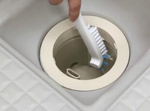 日本AISEN 排水口清洁刷 内侧缝隙刷 地板刷 除污垢厨房水槽刷,