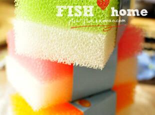 【50包邮】家居清洁必备 洗碗清洁擦 海绵擦 洗碗棉 2枚入,