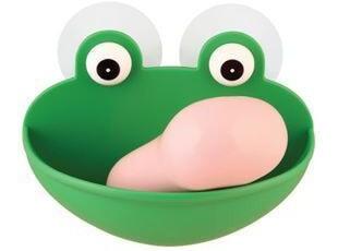 安雅正品 创意青蛙香皂架 青蛙香皂盒皂盘 浴室小物 75g,