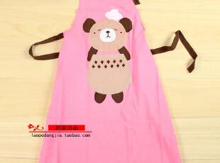 韩版卡通全棉围裙 加厚纯棉围裙 厨房衣 工作服,