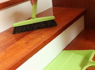 日本进口山崎Satto扫把 地板清洁刷头 扫帚 桌面除尘整理143412,