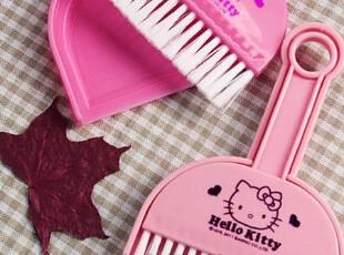 Hello kitty 卡通可爱迷你扫帚簸箕抽屉柜床桌面除尘套装宠物清洁,