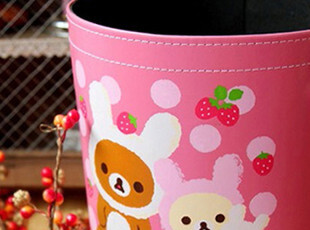全国包邮 轻松熊 Hello Kitty KT超好质量皮革垃圾桶/收纳桶,浴室储物,