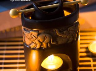 阿玛莉陶瓷石感香薰炉|蜡烛精油|熏香炉|(送精油和蜡烛),