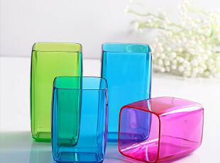 欧润哲 包邮 情侣杯子结婚对杯 漱口杯4件套装(以颜色分类为准),