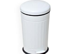 欧润哲 时尚创意 白色锥形纸篓 卫生间垃圾桶家用 脚踏式收纳桶,浴室储物,