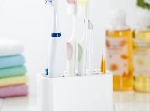 日本进口多功能洗漱收纳架 牙膏架创意 卫生间牙刷架卡通 牙具座,浴室储物,