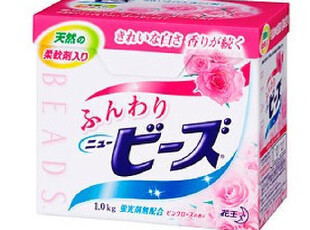 日本原装进口花王洗衣粉1000g(含天然柔顺剂 玫瑰香) 不含荧光剂,