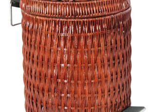 藤编织 家用 脚踏 垃圾桶 时尚 创意(8L)收藏9折,
