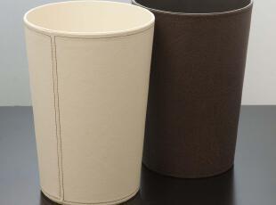 HIPCE 天猫正品 仿皮质垃圾桶 垃圾篓 办公家居用品收纳桶 HWB-02,浴室储物,