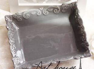 出口欧美星巴克风浮雕复古陶瓷皂盒 肥皂盒 外贸出口余单,