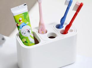 日本进口 LEC 洗漱整理架 牙刷牙膏收纳架 牙具架 卫浴置物架,浴室储物,