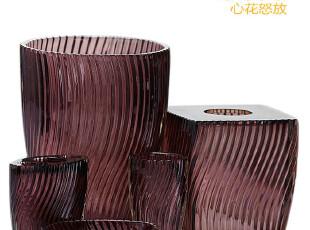 sunforever出口独家现代浪漫样板房浴室装饰紫色流线透明3件套,