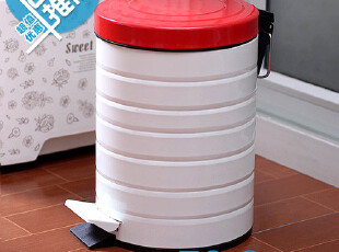 金属烤漆!防锈蚀!可爱脚踏垃圾桶 家用厨房时尚创意宜家外贸货,