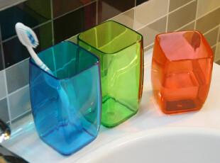 方形结婚杯子 韩国漱口杯 刷牙杯子套装 情侣牙刷杯 创意对杯塑料,