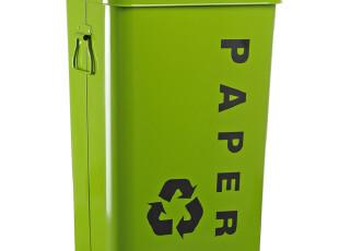 外贸原单 耐用 环保 红黄绿蓝 26L金属带盖简易储物箱 分类垃圾桶,浴室储物,