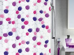 欧洲卫浴spirella正品环保紫色简约鹅卵石防水浴帘 包邮,