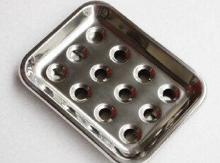 外贸原单 不锈钢肥皂盒 香皂盒 洗衣皂碟 有底托沥水,
