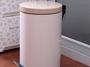 大号渐变厕所垃圾桶脚踏 家用卫生间日本可爱宜家复古感应垃圾桶,