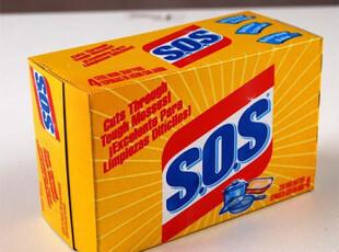 美国高乐氏SOS万用去污刷 钢丝棉钢丝球 多用途清洁剂 刷锅球10头,