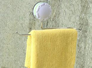 特骞吸盘式置物架 创意304不锈钢浴室单杆毛巾架 卫生间浴巾挂杆,毛巾架,