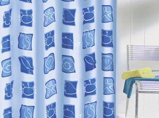 德国Meusch:蓝色海洋浴帘180x200cm,
