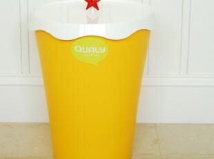 泰国 Qualy Merry Bin 乐色桶(星星盖)/收纳桶/垃圾桶,浴室储物,
