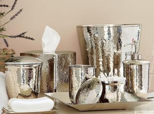 【纽约下城公园】银色波纹浴室八件套(可单买),