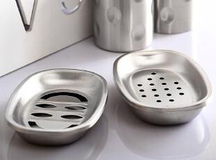 不锈钢香皂盒 肥皂盒带盖双格浴室用品卫生间用品 洗漱用品情侣杯,