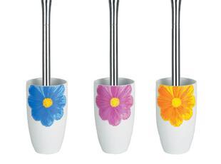 【时尚卫浴丝普瑞】Spirella亮面陶瓷大菊花朵圆形马桶刷,马桶配饰,