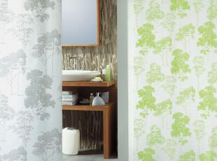 【瑞士设计欧洲品牌】 spirella 时尚松树纹PEVA防水浴帘(包邮),