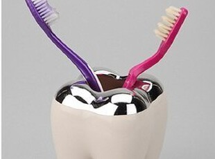美国代购 urban outfitters Tooth Toothbrush Holder 牙齿牙刷架,
