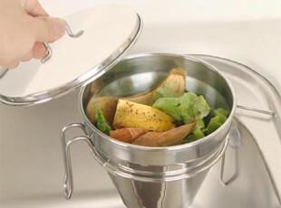 韩国代购 厨房菜盆不锈钢垃圾收纳架 置物架10.5,浴室储物,