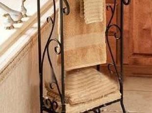 欧式置物架铁艺毛巾架创意浴室收纳架纸巾架双杆简易浴室衣物架,毛巾架,