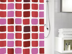 德国Meusch:红色格子浴帘 浴帘 180X200厘米,