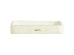 emoi基本生活 方型米白树脂香皂碟 H4008,