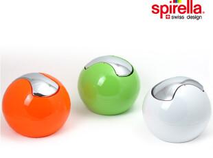 瑞士 SPIRELLA 亮面圆球PS塑料桌面茶几车载mini小收纳垃圾桶1升,浴室储物,