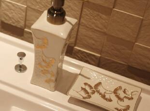 典雅高档银杏叶/骨陶瓷卫浴室/四件套装件,