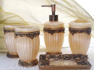 新居结婚礼物★Cassina卡西纳金色罗马浴室五件套卫浴 套装 欧式,