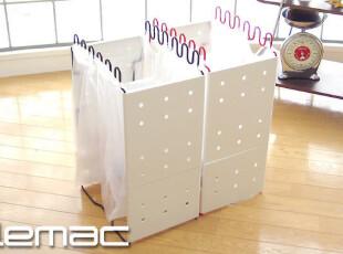 Lemac 巧妙设计 夹扣式可分解垃圾架L  附赠5个垃圾袋,