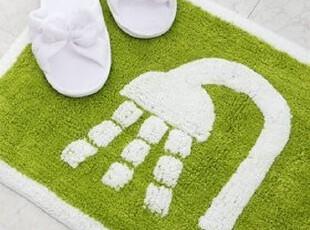 【韩国进口家居】T047 贝斯马特快乐之家 淋浴图案地垫 两色可选,浴室垫,