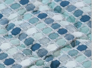 『韩国进口家居』K556 舒适棉麻格子布艺地垫爬行垫游戏垫,浴室垫,