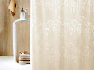 【瑞士设计欧洲品牌】丝普瑞 spirella 色彩绘涤纶防水浴帘,