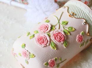 farm house~浮雕玫瑰马桶刷架/厕所刷 卫浴用品,马桶配饰,