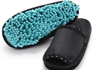 日本进口康多多 山崎susu雪尼尔清扫拖鞋 擦地拖鞋 情侣懒人拖鞋,