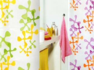 【瑞士设计欧洲品牌】丝普瑞 spirella 十字花瓣PEVA防水浴帘,