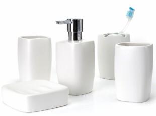 瑞士时尚简约 spirella 哑面陶瓷方形银河浴室卫浴5件套装 包邮,