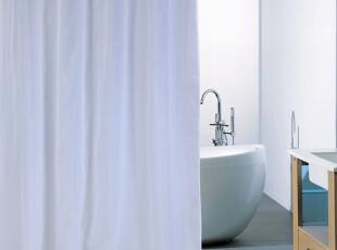 白色 防水防霉 加厚涤纶浴帘 可订做酒店浴帘,